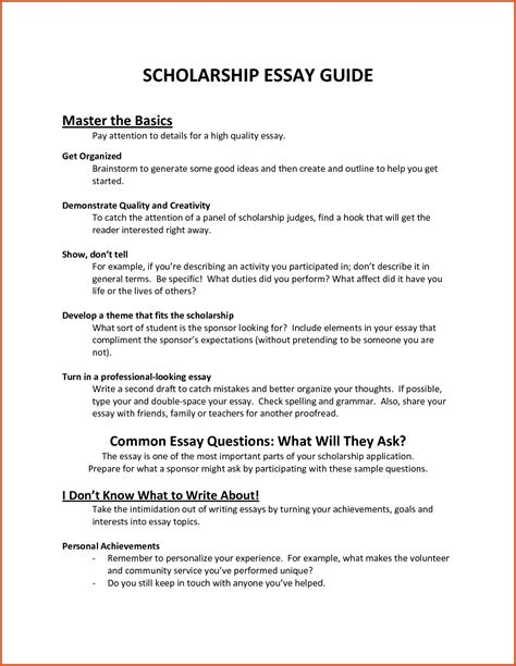 College Scholarship Essay Template by Scholarship Essay Format Exles And Forms