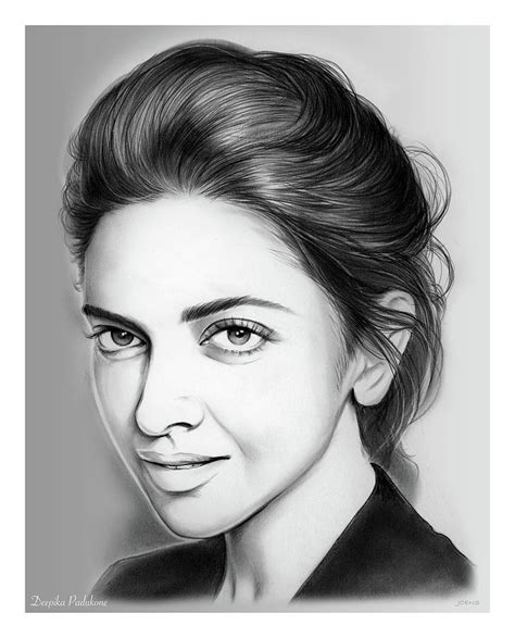 deepika padukone drawing deepika padukone drawing by greg joens