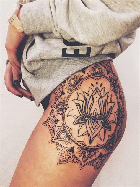 mandala tattoo on hip lotus mandala hip tattoo tattoo pinterest lotus
