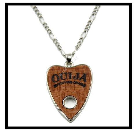 pendant ouija board planchette necklace silver chain ouija