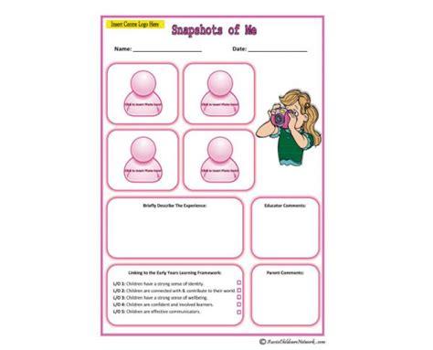 Snapshots Of Me For Girls Aussie Childcare Network Child Care Portfolio Templates