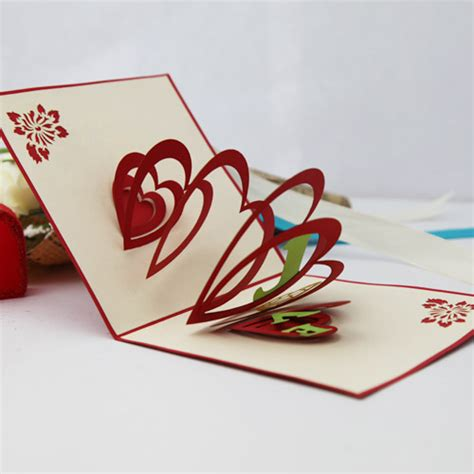 handmade three dimensional card diy paper art greeting card day gift card ingreeting cards from