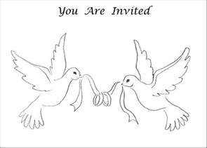 White Dove Template by 6 Best Images Of Printable Wedding Symbols Doves Wedding