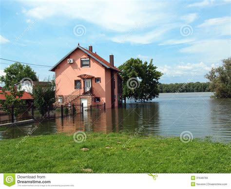 flooded house flooded house royalty free stock image image 31648766