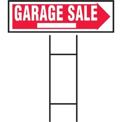 hy ko 10 in x 24 in plastic garage sale sign rs 804