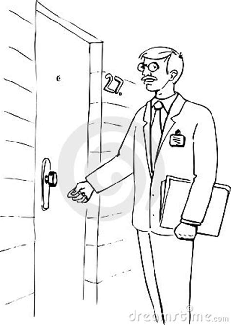 At The Door by Illustration Of A Knocking At The Door Royalty Free