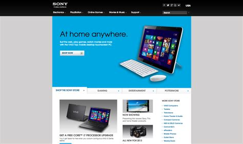 Sony Usa by Sony Usa Consumer Electronics Products Html