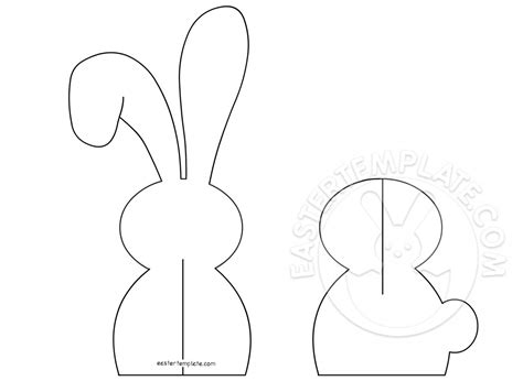 3d Easter Card Templates by 3d Paper Easter Bunny Template Easter Template