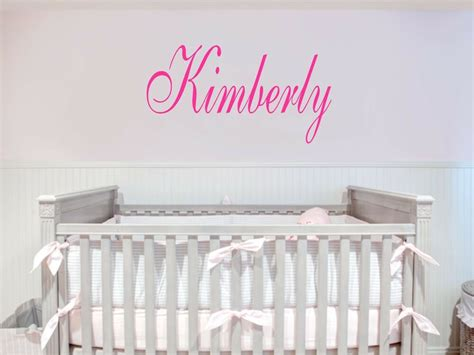 room decals custom name removable vinyl wall decal sticker decor baby room nursery ebay
