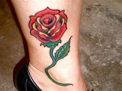 rose tattoos on legs 36 fancy tattoos on leg