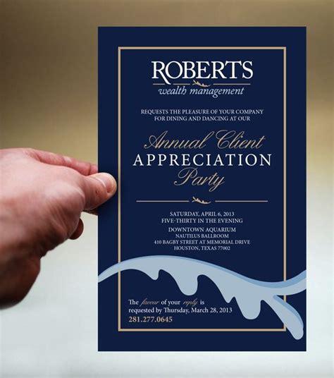 appreciation letter invitation client appreciation invitations search