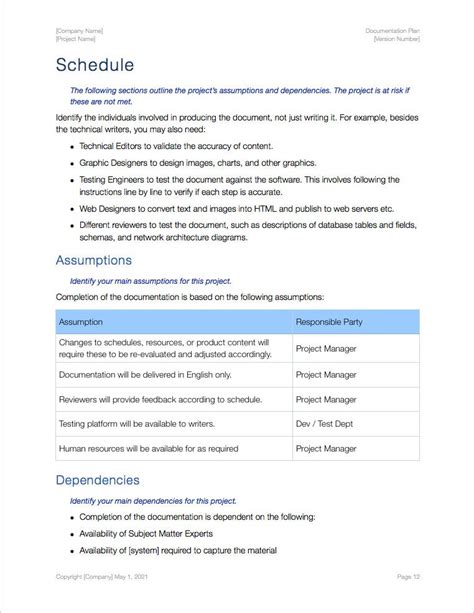 documentation plan template apple iwork pages 17 pgs