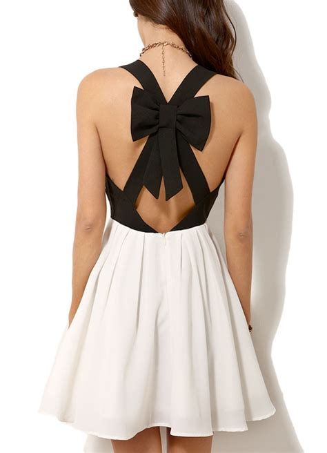 bow back dress dressed up