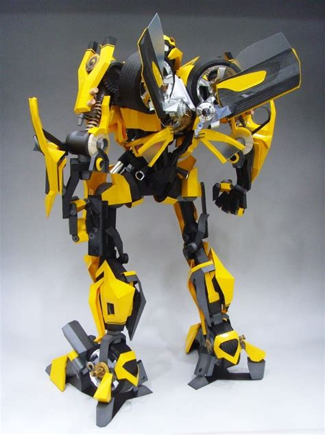 Papercraft Transformers Bumblebee - transformers bumblebee papercraft by rarra