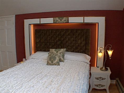how to make a headboard out of wood and fabric how to build a highlighted headboard hgtv