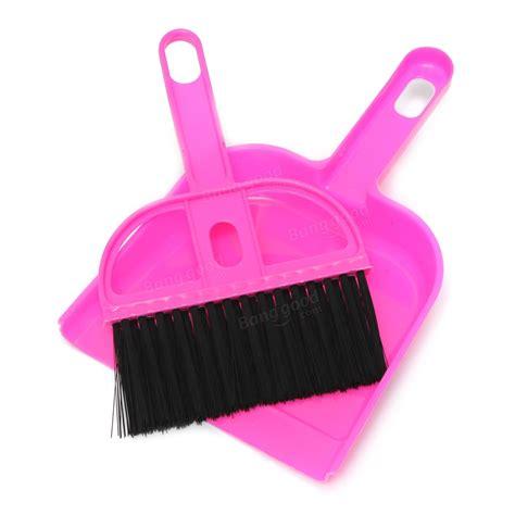 Plastik Soft Handle P 20 X 25 Termurah mini portable plastic dustpan computer keyboard handle brush set soft cleaning sweeper
