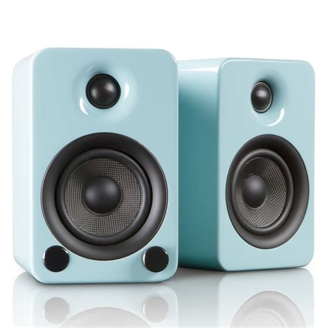 modern speaker yu3 powered bookshelf speakers teal kanto touch
