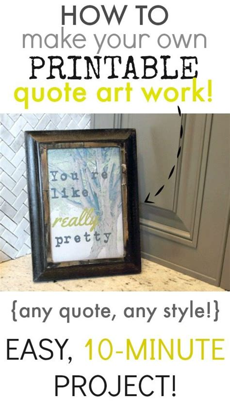 Printable Quotes Maker | how to make your own printable quote art work the creek