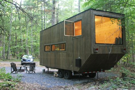 designing a cabin inhabitat spends the night in a harvard designed tiny