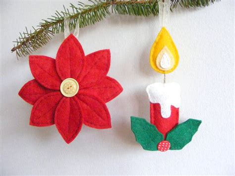 pdf pattern set of two christmas tree ornaments felt