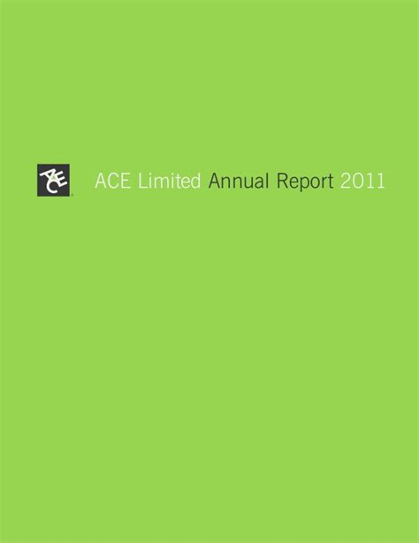 ace hardware indonesia annual report ace limited 2011 annual report