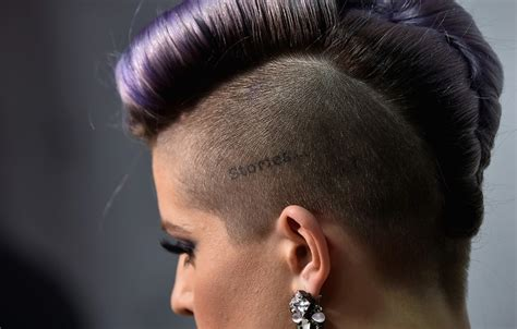 shave around the ear womens chops kelly osbourne short hair shaved side