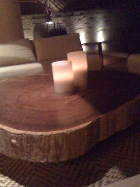 Sliced Log Coffee Table Table Designs