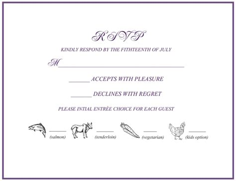 Wedding Invitation Rsvp