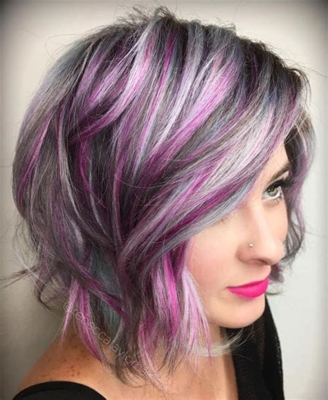 pictures of grey hairstyles with pink highlights 60 messy bob hairstyles for your trendy casual looks