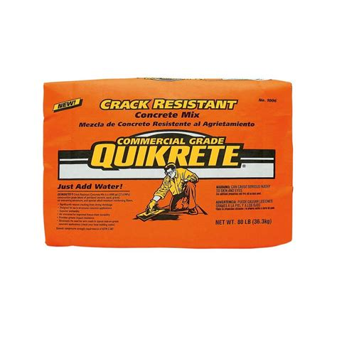 quikrete 80 lb resistant concrete 100680 the home