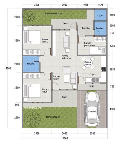 Layout Rumah Minimalis Type 70 | desain rumah mungil type 70 pt architectaria media cipta