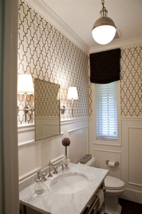 25 best ideas about small bathroom wallpaper on
