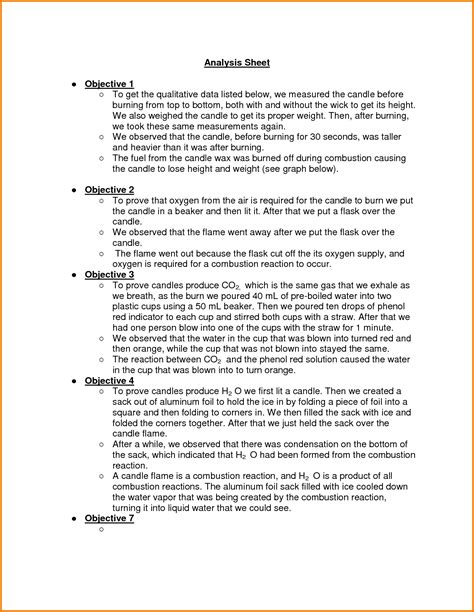 lab report template chemistry how to write a chemistry lab report conclusion