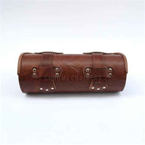Leather Roll triumph unique brown leather tool roll bag pouch gift ebay