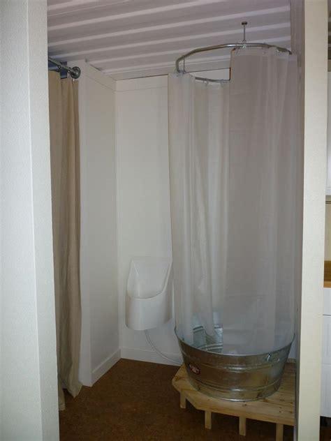 diy indoor c shower small cabin forum