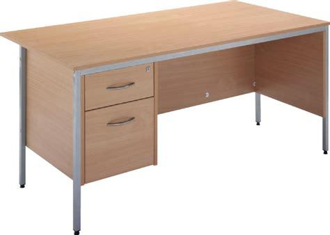Free Office Desks Single Pedestal Office Desk With Free Assembly