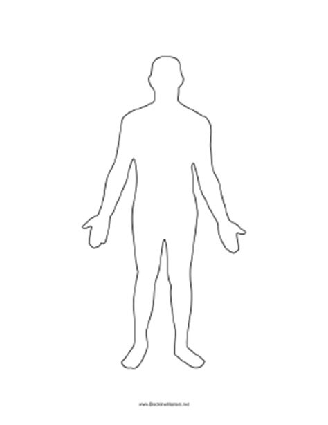 Human Form Outline Free by Form Pictures To Pin On Pinsdaddy