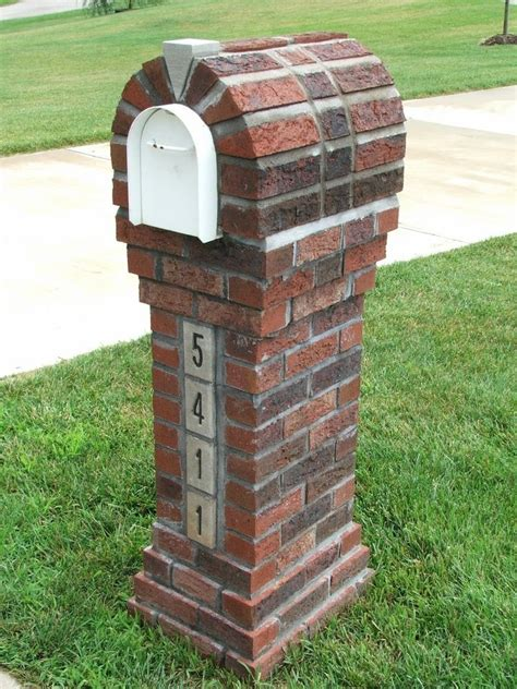 how to decorate a square brick mailbox for christmas and slim brick mailbox design idea on green grassy meadow and white accent with bold