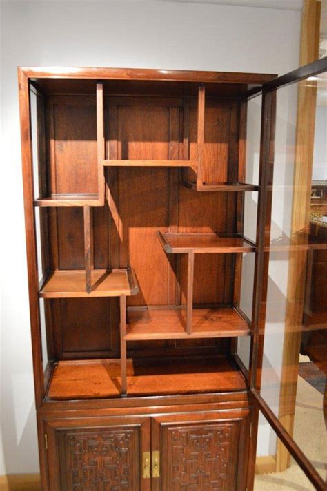 hardwood antique display cabinet at 1stdibs