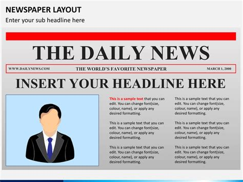 microsoft powerpoint newspaper template newspaper layout powerpoint sketchbubble