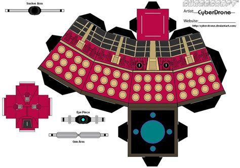 Dalek Papercraft - cubee dalek supreme by cyberdrone on deviantart