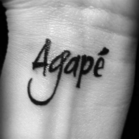 did it agape unconditional tattoos