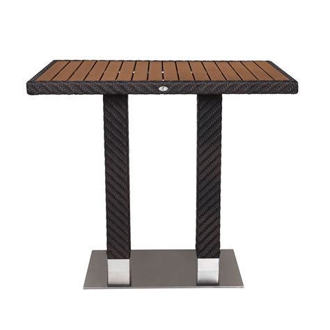 source outdoor arizona rectangular wicker bar table