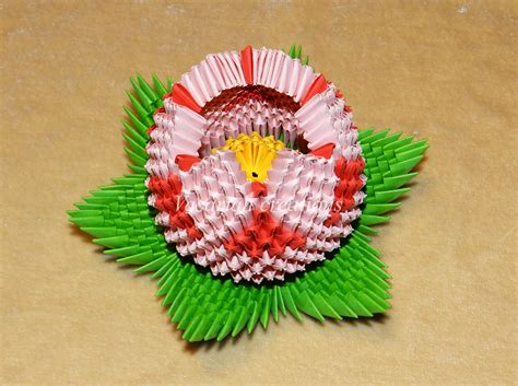 3d Origami Lotus Flower Tutorial - origami 3d lotus by ombryb on deviantart