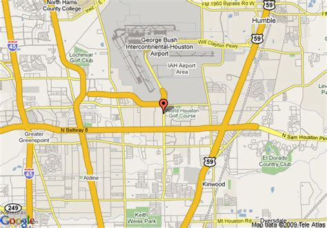 houston map hotels map of doubletree hotel houston intercontinental airport