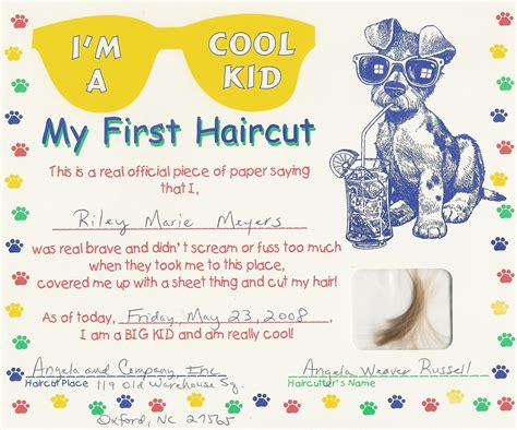 My Haircut Certificate Template haircut quotes quotesgram