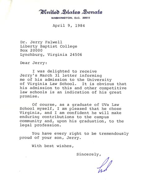 Scholarship Letter Of Recommendation From Family Friend Ted Kennedy A Friend Of The Family Liberty