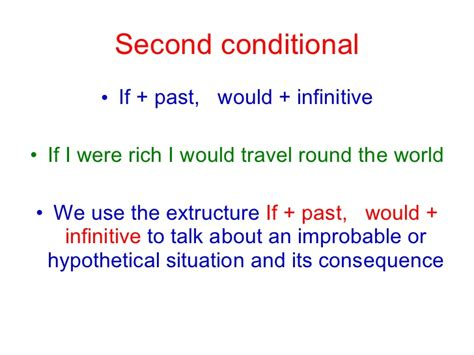 The Second Condition second conditional