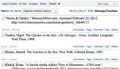 footnote format for website easybib apa mla chicago format citation machine generator