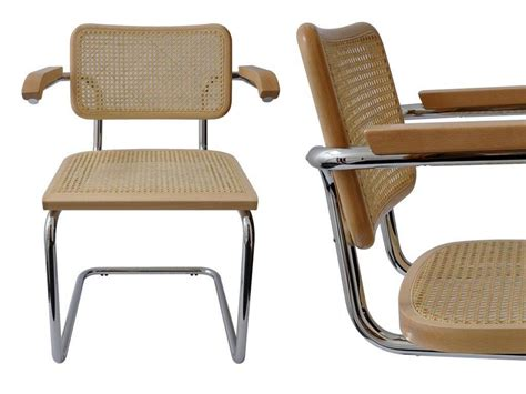 sedie braccioli cesca sedia con braccioli in metallo cromato con telaio in